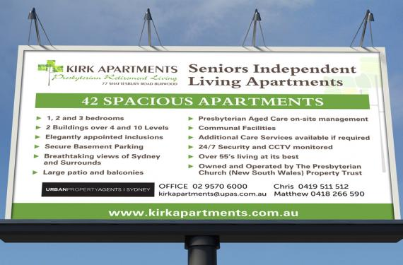 Kirk Apartments Sign