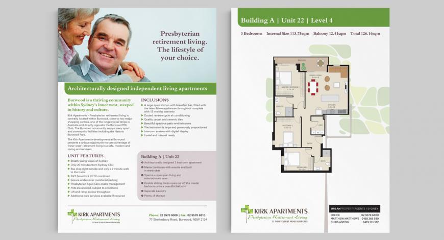 Kirk Apartments A4 Flyer